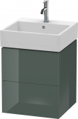 Duravit L-Cube - Vanity unit 484 x 544 x 459 mm with 2 drawers dolomiti grey high gloss