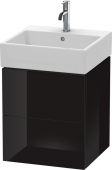 Duravit L-Cube - Vanity unit 484 x 544 x 459 mm with 2 drawers black high gloss