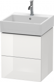 Duravit L-Cube - Vanity unit 484 x 544 x 459 mm with 2 drawers white high gloss