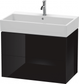 Duravit L-Cube - Vanity unit 784 x 544 x 459 mm with 2 drawers black high gloss