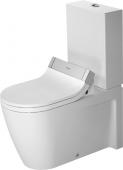 Duravit Starck 2 - Stand-Tiefspül-WC Kombination 725 x 370 mm für SensoWash ohne Beschichtung weiß
