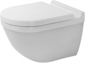 DURAVIT Starck 3 - Wall-mounted washdown toilet without Rimless® white with WonderGliss