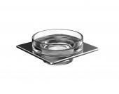 Emco Art - Seifenhalter chrom Glasteil klar