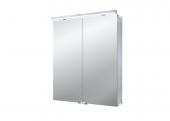 Emco Asis Flat LED - Lichtspiegelschrank mit Unterlicht 600 mm 2 Türen LED neutralweiss 4000k