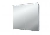 Emco Asis Flat LED - Lichtspiegelschrank mit Unterlicht 800 mm 2 Türen LED neutralweiss 4000k