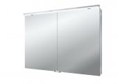 Emco Asis Flat LED - Lichtspiegelschrank mit Unterlicht 1000 mm 2 Türen LED neutralweiss 4000k