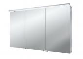 Emco Asis Flat LED - Lichtspiegelschrank mit Unterlicht 1200 mm 3 Türen LED neutralweiss 4000k