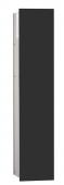 Emco Asis Modul 2.0 - Unterputzmodul 1-türig rechts 811 mm ohne Einbaurahmen alu / schwarz
