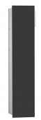 Emco Asis Modul 2.0 - Unterputzmodul 1-türig links 811 mm ohne Einbaurahmen alu / schwarz
