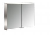 Emco Asis Prime 2 - LED-Lichtspiegelschrank Aufputz 800 mm 2-türig Rückwand verspiegelt