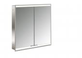 Emco Asis Prime 2 - LED-Lichtspiegelschrank Unterputz 600 mm 2-türig Rückwand verspiegelt
