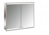 Emco Asis Prime 2 - LED-Lichtspiegelschrank Unterputz 800 mm 2-türig Rückwand verspiegelt