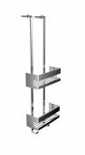 Emco System 2 - Türetagere 2x Schwammkorb chrom