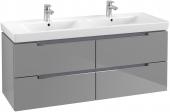 Villeroy & Boch Subway 2.0 - Waschtischunterschrank A699 1287 x 520 x 449 mm glossy grey
