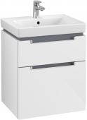 Villeroy & Boch Subway 2.0 - Waschtischunterschrank wandhängend glossy white