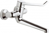 Ideal Standard CeraPlus Sicherheitsarmaturen - Single Lever Basin Mixer wall-mounted with projection 280 mm without waste set chrome