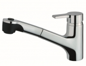 Ideal Standard Active - Single lever kitchen mixer with pull-out spray chrome