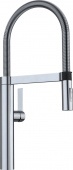 Blanco Culina-S - Küchenarmatur metallische Oberfläche Hochdruck Edelstahl finish
