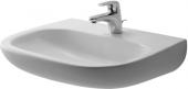Duravit D-Code - Waschtisch Med 650 mm ohne Überlauf mit Hahnlochbank 1 Hahnloch weiß