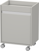 Duravit Ketho - Rollcontainer 360x500x670mm 1 Tür Türanschlag links betongrau matt