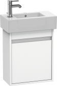 Duravit Ketho - Vanity unit 450 x 550 x 225 mm with 1 door & hinges right white matt