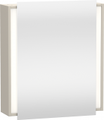 Duravit Ketho - Mirror cabinet 650 x 750 x 180 mm with 1 mirror door & 2 glass shelves & hinges right mirrored