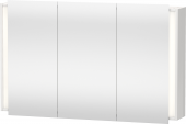 Duravit Ketho - Spiegelschrank 180x1200x750mm 3 Spiegeltüren nussbaum dunkel