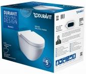 Duravit Starck 3 - WWC-Set Tiefspüler Durafix weiß inklusive WC-Sitz mit Absenkautomatik