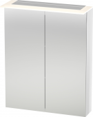 Duravit X-Large - Spiegelschrank 138x600x760mm 2 Spiegeltüren LED nussbaum dunkel