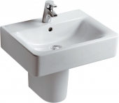 Ideal Standard Connect - Washbasin for Furniture 550x460mm with 1 tap hole with overflow white with IdealPlus