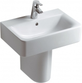 Ideal Standard Connect - Washbasin 550x375mm with 1 tap hole with overflow white with IdealPlus