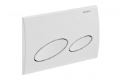 Geberit Kappa20 - Flush Plate for WC and 2 flushes white / white