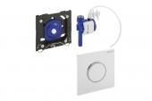Geberit HyTouch - Flush Plate for Urinal white / chrome high gloss / white