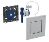Geberit - Urinalsteuerung mit pneumatischer Spülauslösung Betätigungsplatte Typ30 weiß / glanzchrom