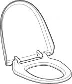 Geberit - WC-Sitz und WC-Deckel weiß-alpin zu AquaClean 8000 / 8000plus