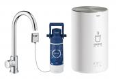 Grohe Red Mono - Standventil und Boiler M-Size C-Auslauf chrom