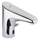 GROHE Europlus E - Infrared electronic tap battery powered with Temperature Control without waste set chrome