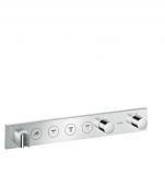 Hansgrohe Axor - Thermostatmodul Unterputz Select Fertigset 4 Verbraucher chrom