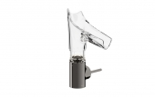 Hansgrohe Axor Starck V - Waschtischmischer 140 mit Glasausl.-Facettenschliff polished black chrome