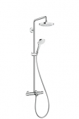 Hansgrohe Croma Select E 180 2jet Showerpipe Wanne weiß / chrom