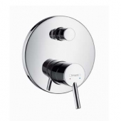 hansgrohe Talis S2 - Concealed single lever bathtub mixer with safety combination for 2 outlets chrome