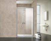 HSK Favorit Nova - Sliding door 2-piece, 50 ESG clear bright 1200 x 1850 mm, 01 Alu silver matt