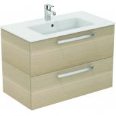 Ideal Standard Eurovit - Waschtisch Möbel-Paket 815 x 450 x 565 mm weiß / hochglanz weiß lackiert