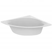 Ideal Standard Tonic II - Eck-Badewanne mit Ablauf und Füller 1400 x 1400 x 480 mm weiß