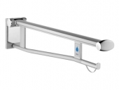 Keuco Plan care - Folding grab rail black gray / chrome-plated