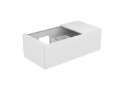 Keuco Edition 11 - Vanity unit 31153, 1 pan drawer, with lighting, white Hochgl. / White Hochgl.