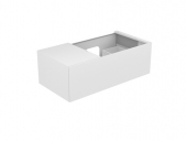 Keuco Edition 11 - Vanity unit 31154, 1 pan drawer, with lighting, white high gloss / white high gloss