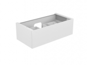 Keuco Edition 11 - Vanity unit 31251, 1 drawer with lighting, white high gloss / white high gloss