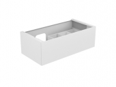 Keuco Edition 11 - Vanity unit 31253, 1 drawer with lighting, white high gloss / white high gloss