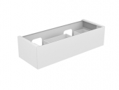 Keuco Edition 11 - Vanity unit 31267, 1 drawer with lighting, white high gloss / white high gloss